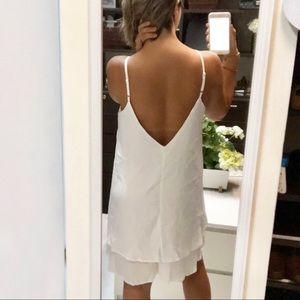 🧡Chiffon White Dress